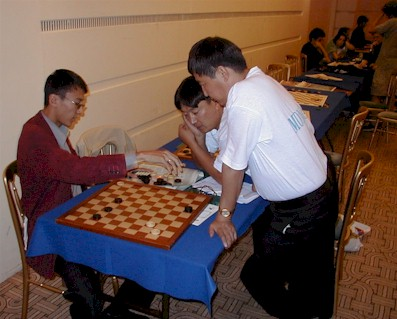 practice of Mongolian team International Draughts