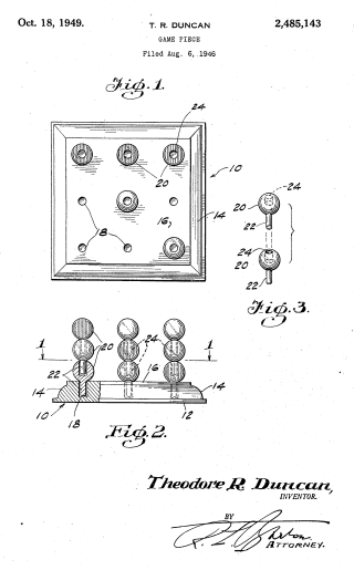 3D stacking game patent